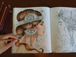 how i color skin hair dagdrömmar coloring book coloring with colored pencils