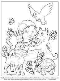 Kindness Coloring Page Windsor Academy Character Education