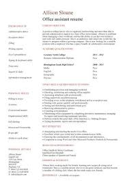 no work experience office assistant resume ...
