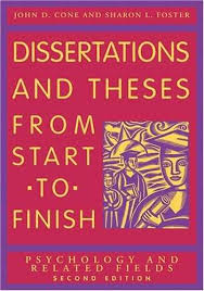 Dissertation And Theses From Start To Finish    xyz  Dissertations and Theses from Start to Finish  Psychology and Related Fields