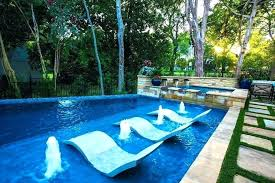 water chair in pool lounge chairs fabulous outdoor decorating ideas for glamorous contemporary best salt