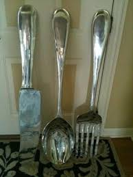 silver spoon wall decor giant 4 foot long spoon and fork set an throughout on giant fork and spoon wall art with wall art ideas giant fork and spoon wall art explore 19 of 20 photos