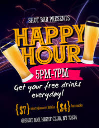 Happy Hour Flyer 640 Happy Hour Customizable Design Templates Postermywall