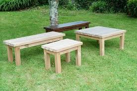 swedish redwood garden coffee table 4 sizes