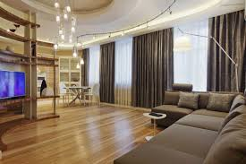 electric curtain track in living room