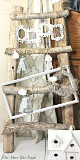 rustic ladder rustic ladder decor rustic ladder decorated with shabby chic frames and decor one more rustic ladder