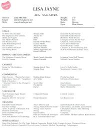Acting Resumes Actors Resumes Examples Acting Resume Example Here ...