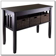 sofa table with storage baskets. Full Size Of Sofa:amusing Black Sofa Table With Storage Baskets Beautiful
