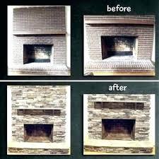 refinish brick fireplace refinish fireplace refacing brick fireplace ideas tile over brick fireplace awesome how to refinish brick fireplace