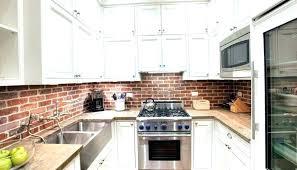 brick backsplash in kitchen brick kitchen kitchen design gray brick country kitchen faux brick brick backsplash