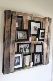 diy natural wood photo display via