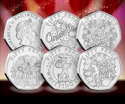Kew Gardens Design 50p Five New 50p Coins Featuring Pantomimes Including