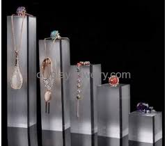 Acrylic Necklace Display Stands Awesome Wholesale Acrylic Jewellery Display Set Counter Display Stand