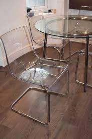 ikea round glass table and chairs salmi tobias