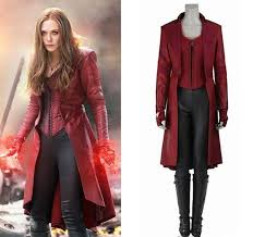Captain America Civil War Scarlet <b>Witch Costume</b> Wanda Maximoff ...