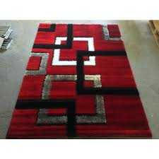 red and black rug gy area rug modern floor decor red black white squares large rug