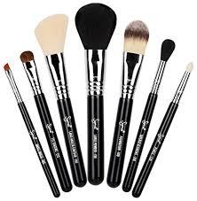 the set includes a large powder brush large angled contour brush foundation brush eye pencil brush