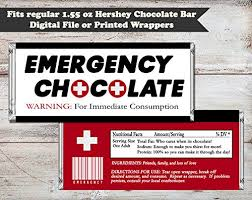 chocolate bar wrappers amazon com emergency chocolate candy bar wrapper set of 10 fun