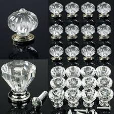 glass crystal cabinet door knobs 1 6 clear knob cupboard drawer