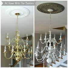 painted metal chandelier antique six light tole