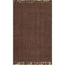 chunky loop jute chocolate 6 ft x 9 ft area rug