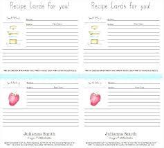 Full Page Recipe Templates Recipe Template Pdf