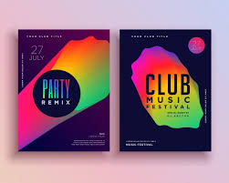Club Flyer Templates Free Colorful Club Music Flyer Template Vector Free Download