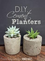 diy cement planters via remodelaholic com