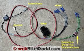 dual horn relay wiring harness webbikeworld dual wiring harness diagram dual horn relay wiring harness details