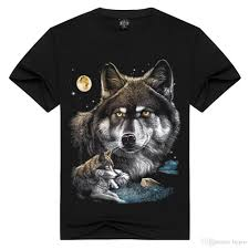 Wolf Design Sweatshirts Fashion Wolf Design T Shirt For Men Good Quality Cotton Clothing Hip Hop Top Tees Xs Xxxl Black Shirts T Funky T Shirts For Women From Bypro 33 51