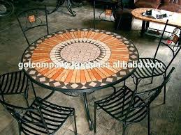 S Mosaic Patio Table Furniture Wholesale Terracotta  Top Regarding Contemporary Residence
