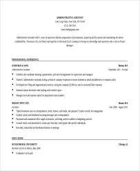 Sample Resume Of Admin Executive Sample Resume For Administrative