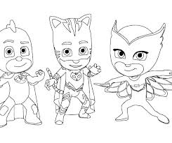 Masks Coloring Book Lovely Pages Free Download Page Pj Mask