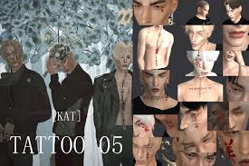 KAT] Tatuaje 05   Sims 4 tattoos, Katrina, Sims