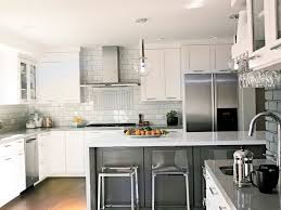 Modern Kitchen Backsplashes With White Cabinets Railing Stairs And Interesting White Cabinets And Backsplash Collection