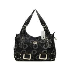 Coach Waverly In Signature Large Black Totes DNV