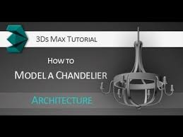 tutorial how to model a 3d chandelier using splines in autodesk 3ds max