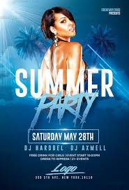 Summer Party Flyers Download Dj Flyer Pinterest Flyer Template Psd Flyer