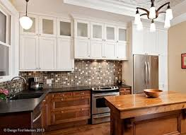 Kitchen cabinets wood Unitedstatestelevision Wood And White Two Tone Kitchen Cabinets Themediumnet Twotone Kitchen Cabinets To Inspire Your Next Redesign