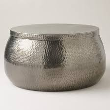 hammered silver coffee table