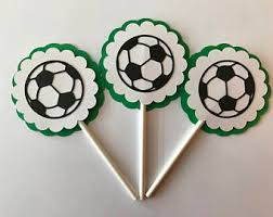 Soccer Ball Icing Decorations Soccer cupcake Etsy 84