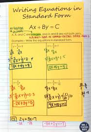 writing equations in standard form practice intro to linear inb pages mrs e teaches writing equations