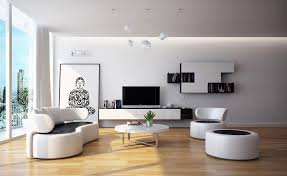 Contemporary Living Room Furniture White Contemporary Living