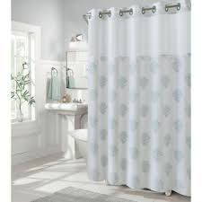 coral and brown shower curtain. hookless coral reef 74-inch x 71-inch shower curtain in grey mist and brown r