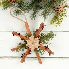 how to make rustic Christmas ornaments - natural tree decorations - cute  DIY home made gift