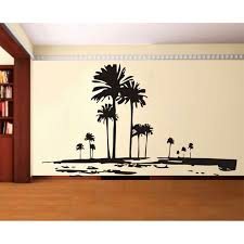 palm tree wall stickers: tall palms tree wall decal retro wall deor of trees unique wall stickerchina