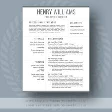Reference Pages For Resumes Resume Design Simple And Classy Resume With 1 2 3 Pages