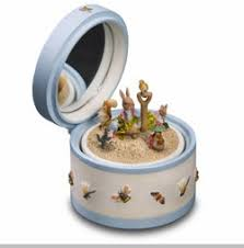 I do not see anything else wrong with it everything looks intact please use photos for reference. The San Francisco Music Box Company Beatrix Potter Peter Rabbit Toy Box Update