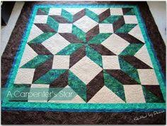 Quilt Patterns and Tutorials for Beginners | Face, Star gaze and ... & carpenter star quilt pattern free I love this color combo! Adamdwight.com