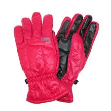 Size Large Womens Down Touch Screen Winter Glove Rose